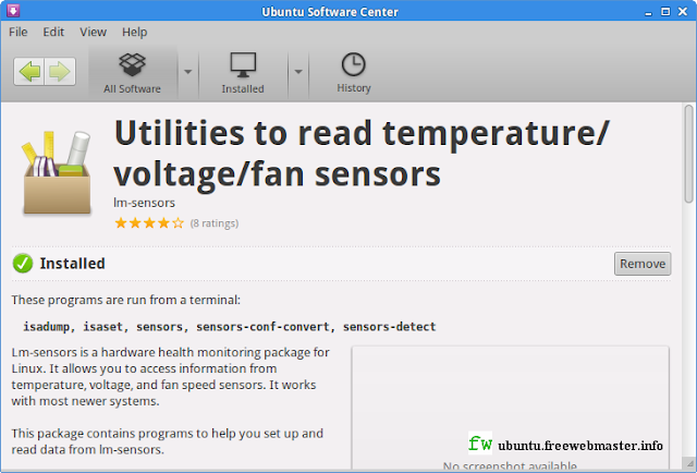 Установка Lm-sensors в Менеджере приложений Ubuntu