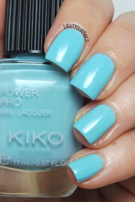 Smalto azzurro Kiko Power Pro 113 Touch The Sky baby blue creme nail polish #kikonails #kikocosmetics #kikotrendsetter #lightyournails