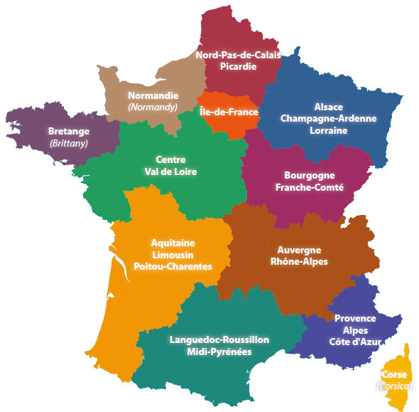 New Map Of France.Go Holiday Blog France Re Draws Its Regional Map