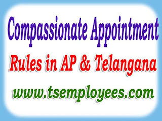 Compassionate Appointment Rules in AP Telangana Compassionate Appointments for the Dependents of AP TS Government Employees who died in harness and who are found missing and where abouts not know compassionate ground appointments to dependents Compassionate Appointment Rules in AP Telangana state application form married daughter eligible for compassionate appointments in Andhra pradesh Telangana Compassionate Appointments who dies in harness medically invalidated missing for more than 7 years dies in violence commits suicide to the deceased Government Employee is in force as per the orders issued in G.O.687 GAD Dated 3-10-1977. Government has released The Circular Memo. No.60681/Ser.A/2003-1 Dated 12-8-2003 on Compassionate Appointments by consolidating all existing instructions upto 2003