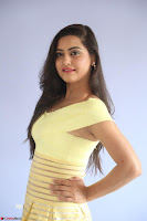 Shipra gaur in V Neck short Yellow Dress ~  063.JPG