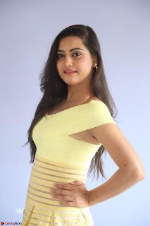 Shipra gaur in V Neck short Yellow Dress ~  063.JPG