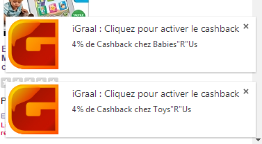 activation de  cashback