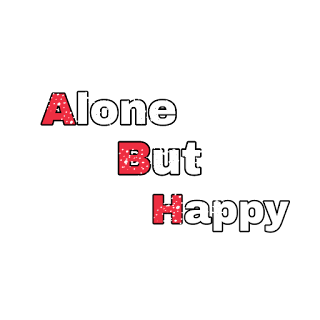 Png text, alone but happy