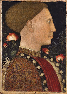 Pisanello's 1441 portrait of Leonello d'Este, which is housed at the Accademia Carrara
