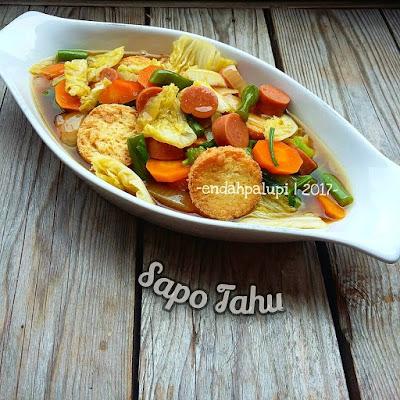 Resep Sayur Dan Tahu Ala Rumahan By @endahpalupid