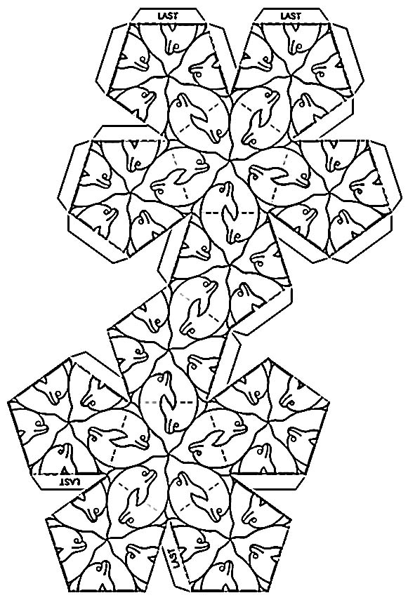 School Supplies: Tessellations and patterened polyhedrons
