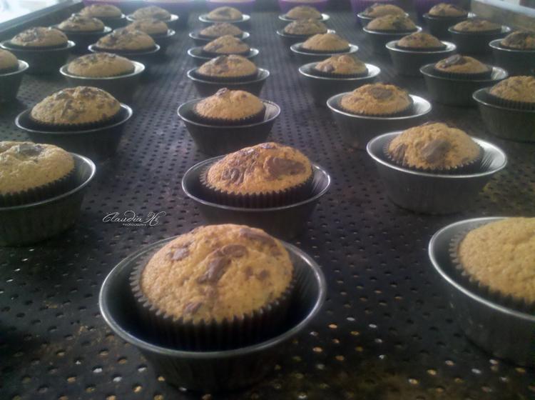 receita Muffins com Gotas de Chocolate
