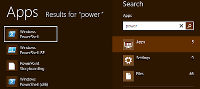 trovare la powershell windows 8