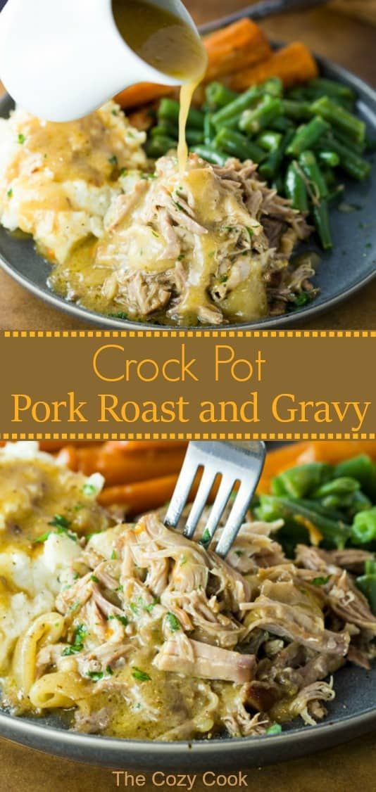 Crock Pot Pork Roast with Gravy