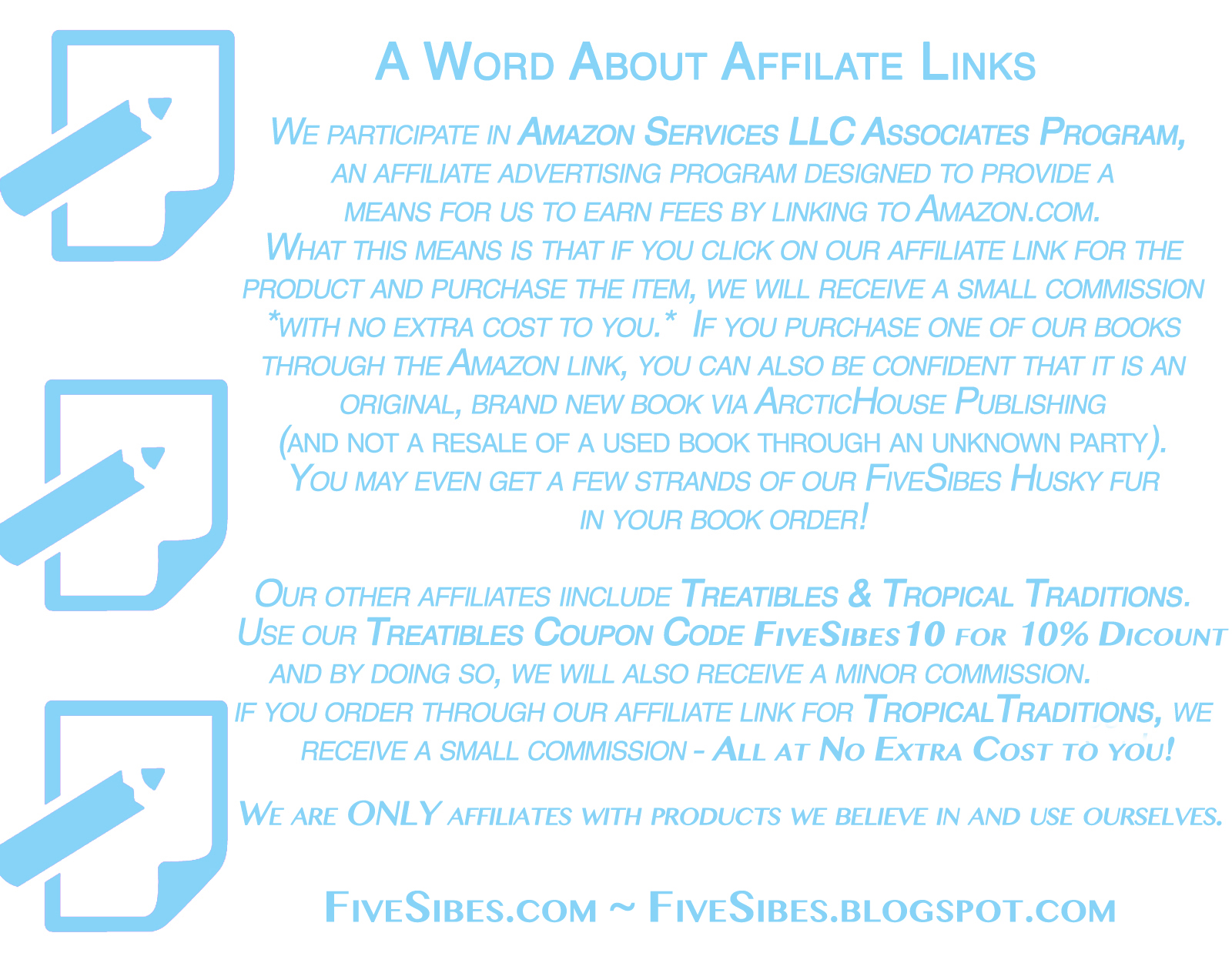 Affiliate Links Policy