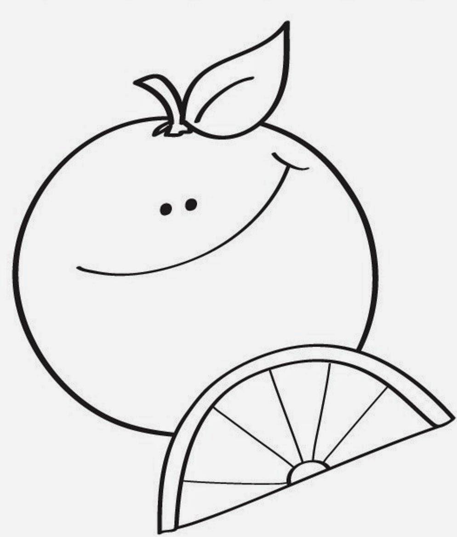 Latihan mewarnai gambar buah jeruk