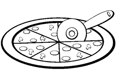 Gambar Mewarnai Pizza - 8