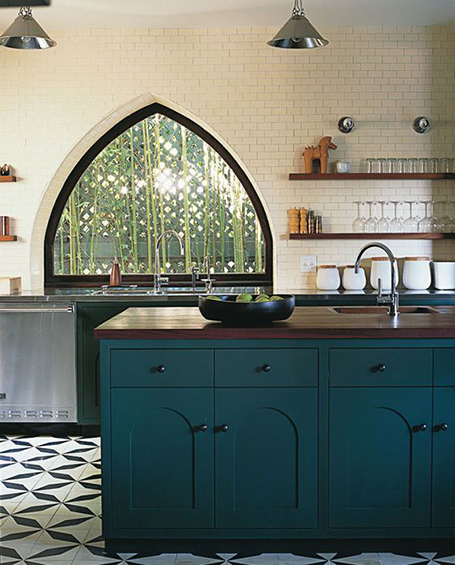 Teal Kitchen Tile Backsplash