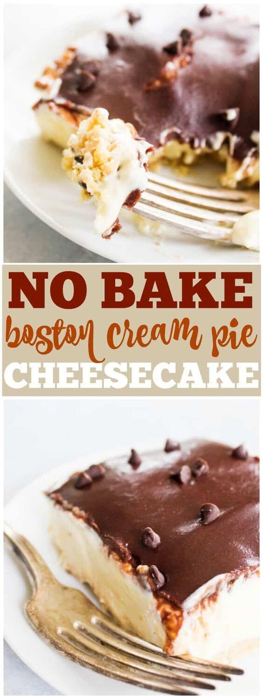 No Bake Boston Cream Pie Cheesecake