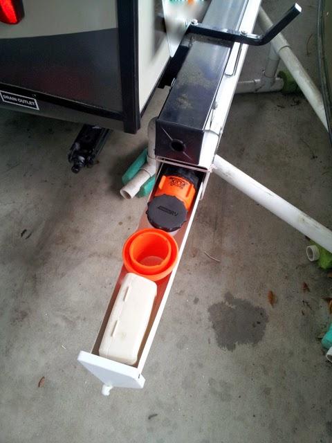 Camping and Gardening: RV Sewer Hose Storage Mod