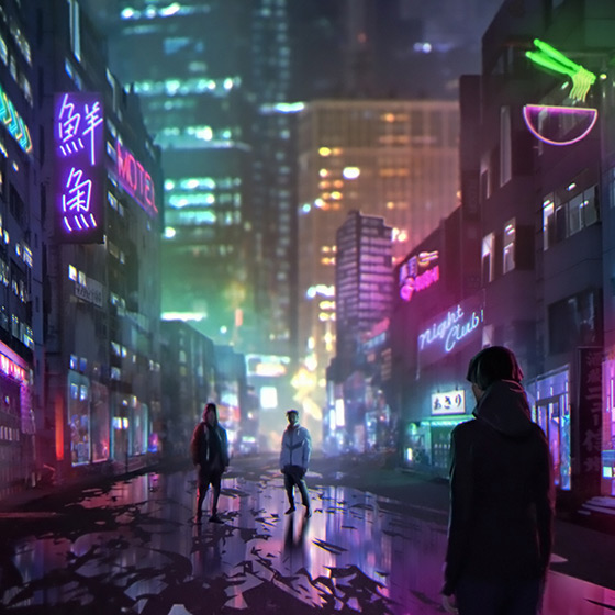 Colourful City Wallpaper Engine