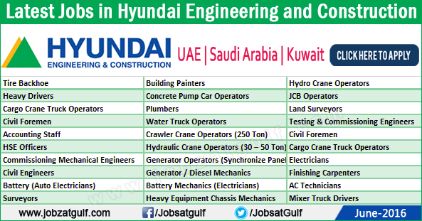 Jobs In Hyundai Uae Engineering And Construction Uae