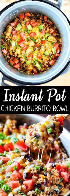 Instant Pot Chicken Burrito Bowl #maincourse #instantpot #chicken #burrito #bowl