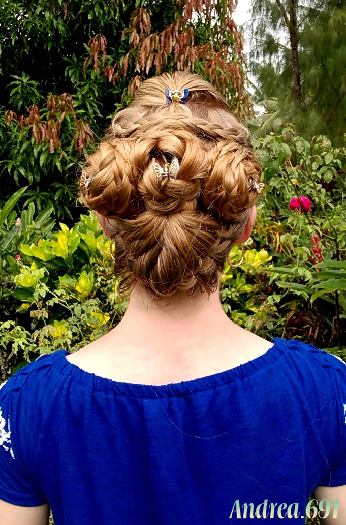 Braids   Hairstyles for Super Long Hair   Three flowers in a vase         you around the world who click on my blog and take time to look at the  different braids and hairstyles I share here  I hope to see you again soon   3