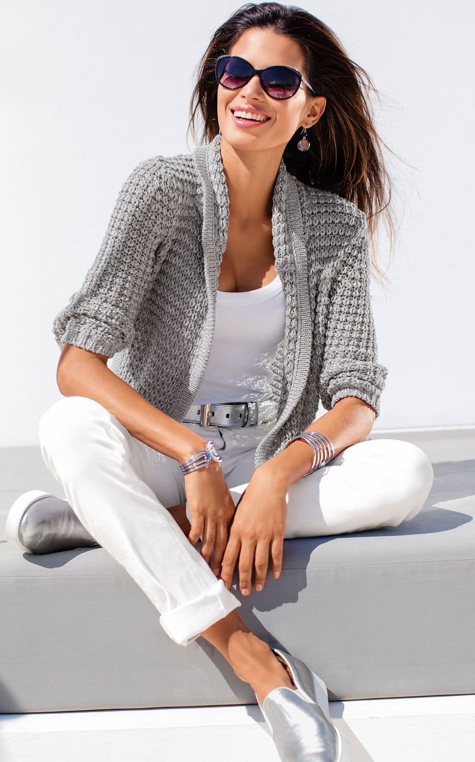Madeleine Light Grey Cardigan