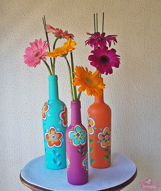 Ideias para pintar garrafas