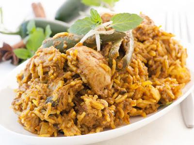 Chicken Maqluba with Peas Recipe