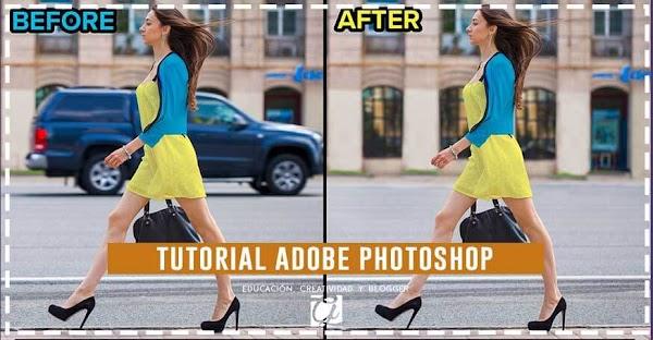 Photoshop: Como eliminar cualquier objeto de manera muy rápida