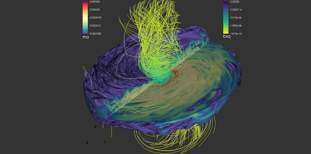supermassive black hole simulation predicts characteristic light signals at cusp of collision