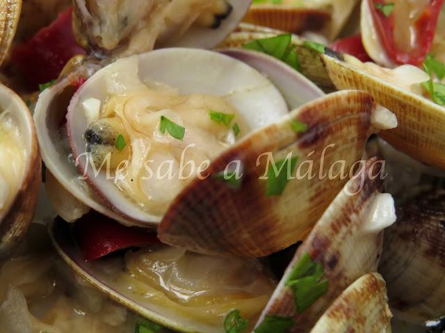 receta de almejas en salsa a la malagueña