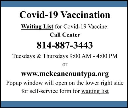 McKean County Vaccination Waiting List