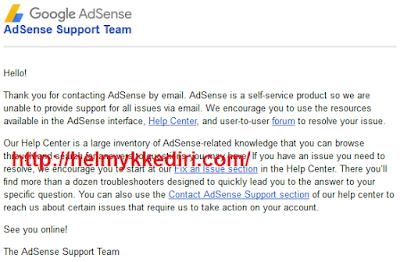 Cara menghubungi pihak adsense lewat email