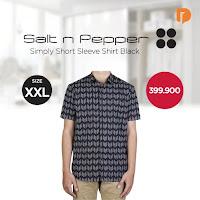 Dusdusan Salt N Pepper Simply Short Sleeve Shirt Size XXL Black ANDHIMIND