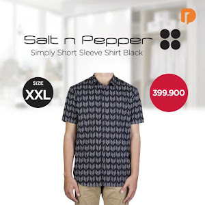 Salt N Pepper Simply Short Sleeve Shirt Size XXL Black