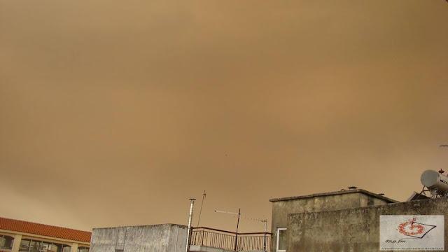 """Πρέβεζα: Το """"πέρασμα"""" της Αφρικάνικης σκόνης έκρυψε τον ουρανό της Πρέβεζας"""