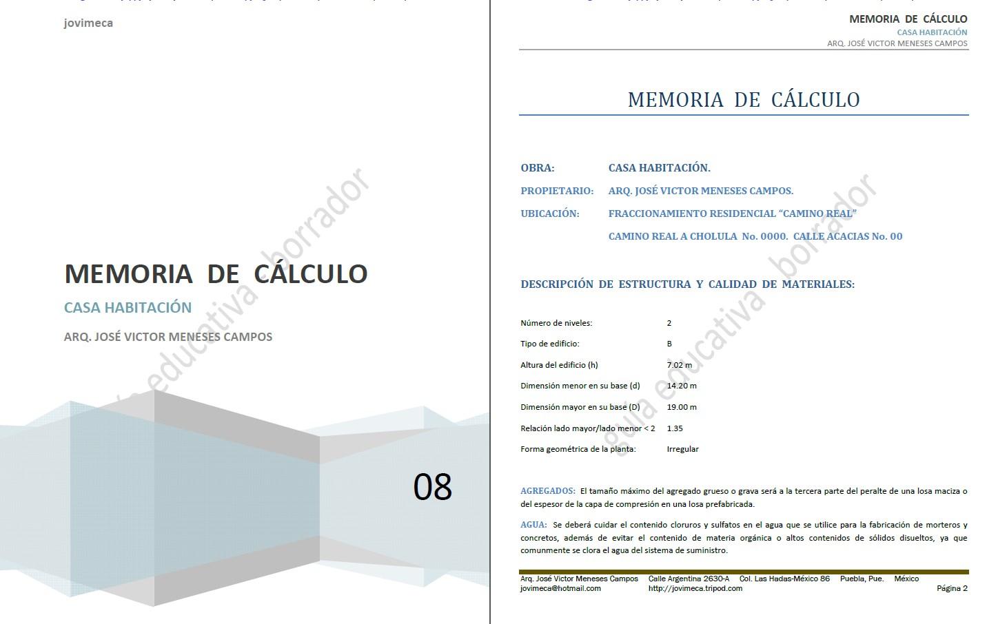 memoria de c lculo casa habitaci n 5 3 mb aporte a la On memoria de calculo estructural vivienda