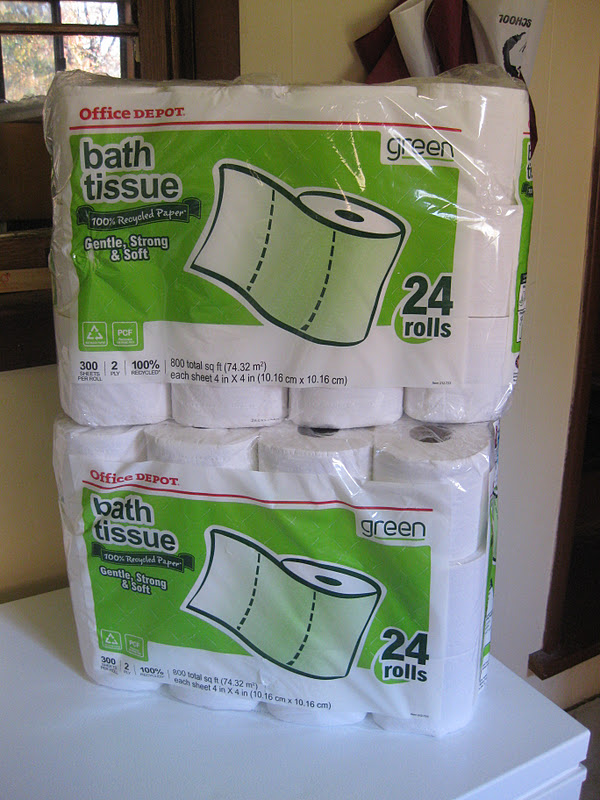 the green goddess old ink cartridges turned cheap toilet paper. Black Bedroom Furniture Sets. Home Design Ideas