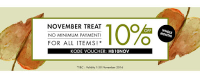 Hijabenka November Treats Diskon 10%