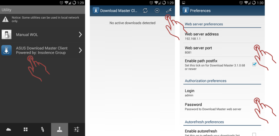 ASUSNW-FAQ: [Setup] How to use ASUS download master client?