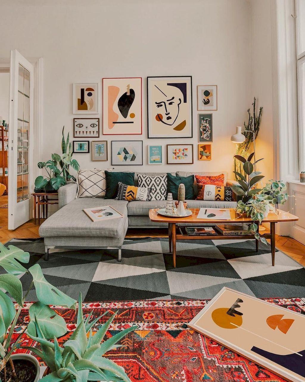 boho small living room design