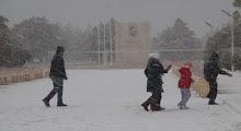 Silifke'ye 4 yıl sonra kar yağdı