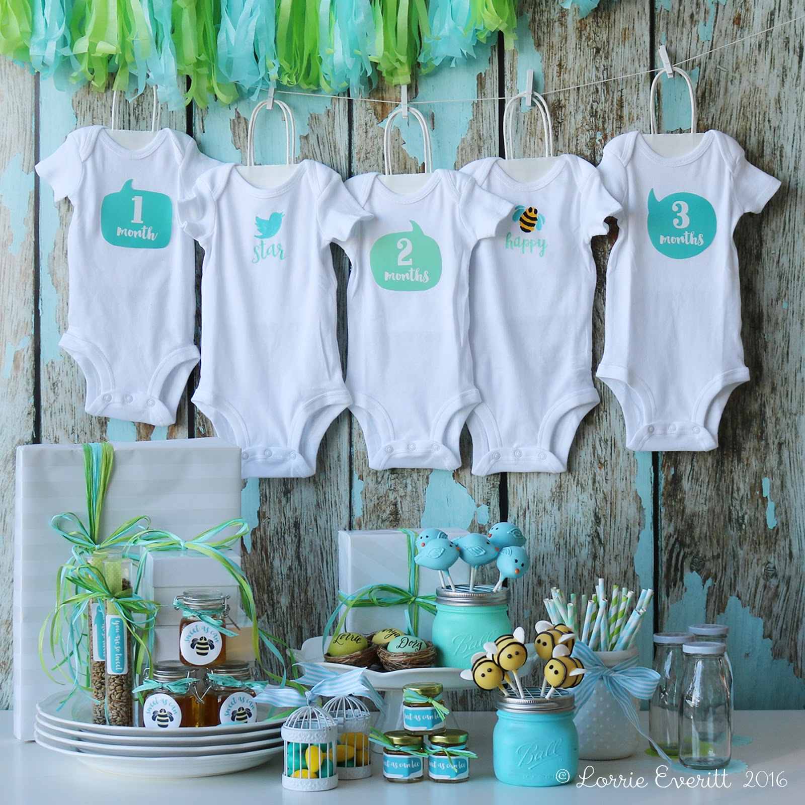 Lorrie Everitt Studio: Let\'s paint some onesies! A baby shower party ...