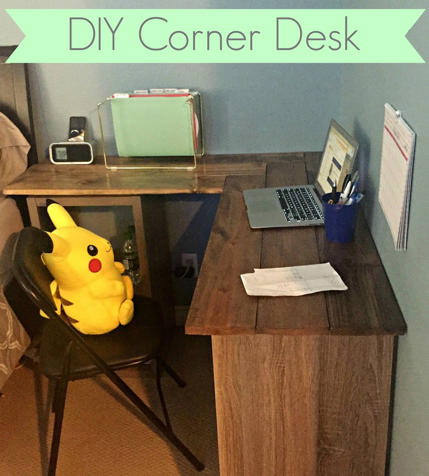 how to build a corner desk from scratch