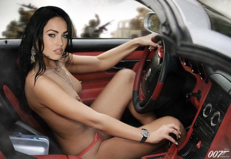 Megan Fox Nude in Car