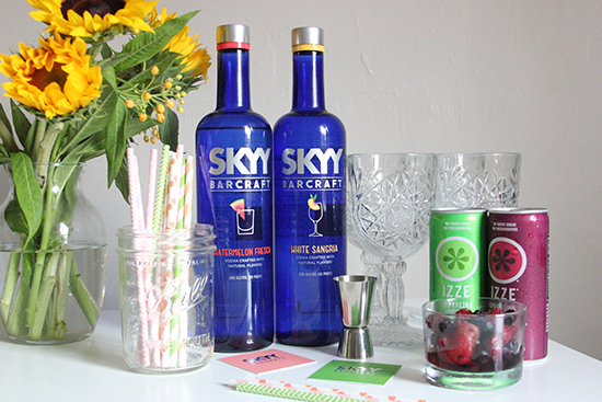 SKYY Barcraft Vodka Izze Sparkling Juice Cocktail Recipe