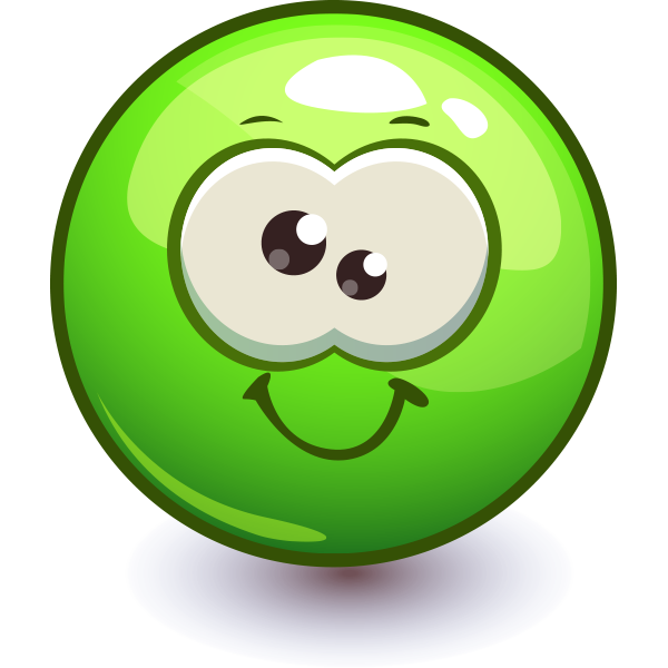 Goofy Green Smiley