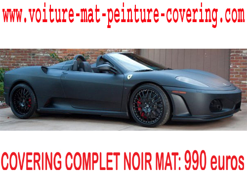 covering noir mat prix d une peinture complete auto retouche peinture voiture peinture. Black Bedroom Furniture Sets. Home Design Ideas