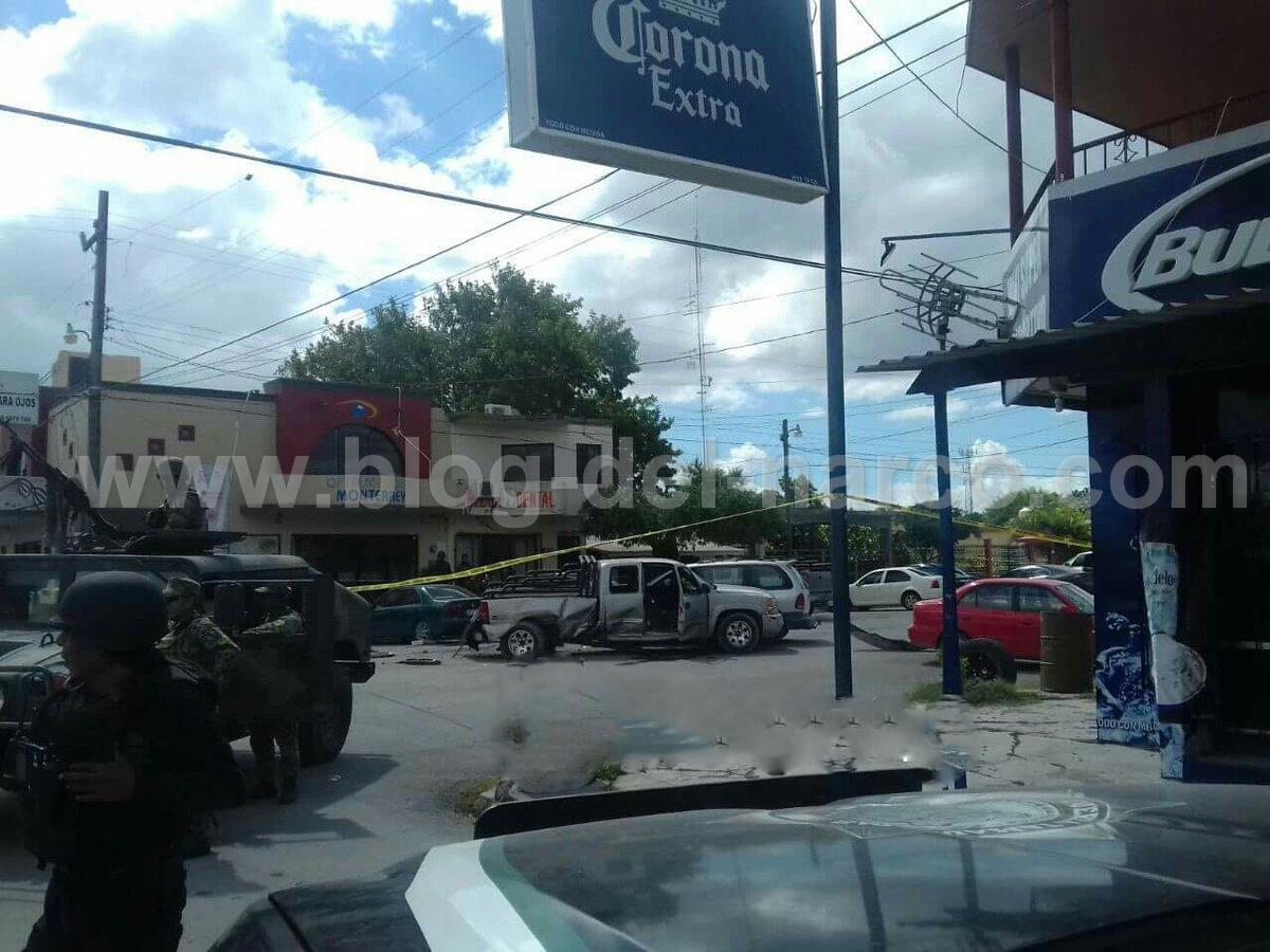Imagenes:Tras persecucion y enfrentamiento entre delincuentes y SEDENA 4 detenidos en Valle Hermoso