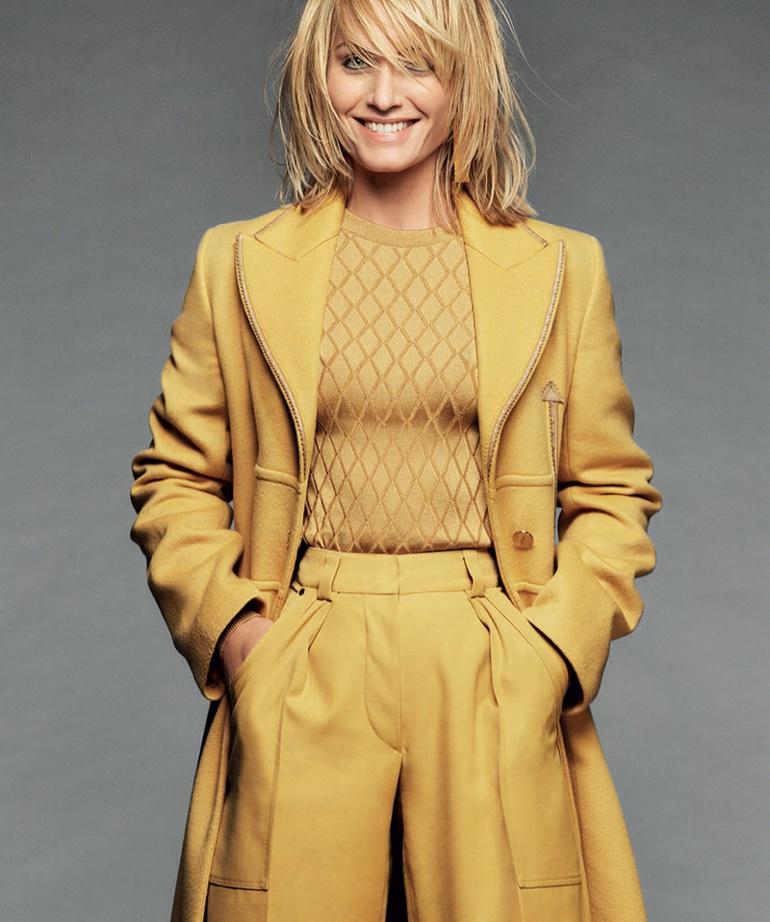 Amber Valletta wears Fall ensembles for Harper's Bazaar Spain October 2017