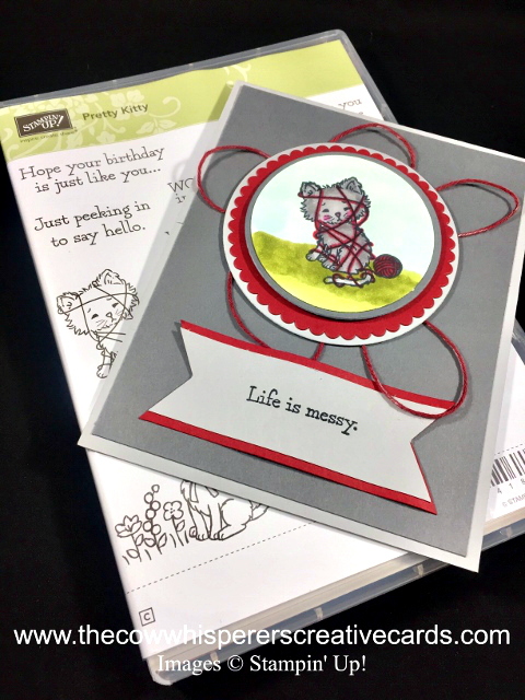 Card, Pretty Kitty, Life is Messy, Stampin' Blends